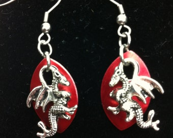 Dragons with Scale Earrings - Green - Game Of Thrones Inspired