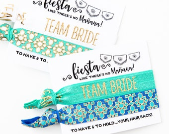 Hair Tie Bachelorette Favor | Fiesta Bachelorette Hair Tie Favors, Team Bride Bachelorette Hair Tie Favors, Fiesta Bachelorette Hair Ties
