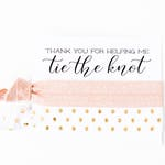 Hair Tie Bridal Shower Favor | Blush Pink, Gold + White Hair Tie Favor, Bridesmaid Gift, Wedding Party Gift, Blush Pink Wedding Shower Favor