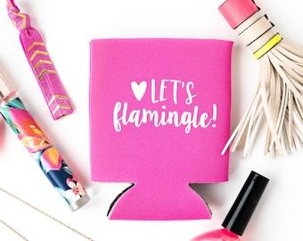 Let's Flamingle Bachelorette Party Favors | Beach Bachelorette Party Drink Cooler Favors, Tropical Flamingo Bachelorette Party Drink Cooler