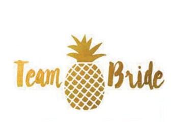 8f1ba817f Pineapple Bachelorette Temporary Tattoo Favors | Gold Team Bride Tattoos,  Metallic Gold Temporary Tattoo Favor, Tropical Bachelorette Tattoo