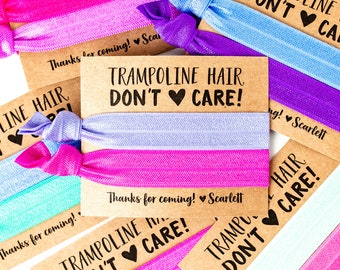 Trampoline Party Hair Tie Favors