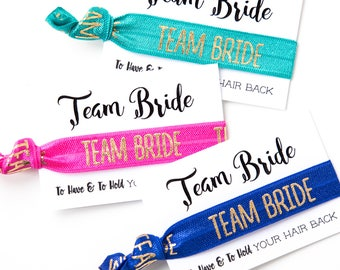 YOU DESIGN Bridal Party Hair Ties | Wedding + Bridesmaid Gift Hair Ties, Bachelorette Party Survival Kit Favors, Team Bride Hair Tie Favors