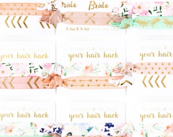ASSORTED BOHO + FLORAL Hair Tie Favors | Bridesmaid Gift Hair Ties | Bridal Party Hair Ties, Hair Tie Bridal Shower Favors, Boho Wedding
