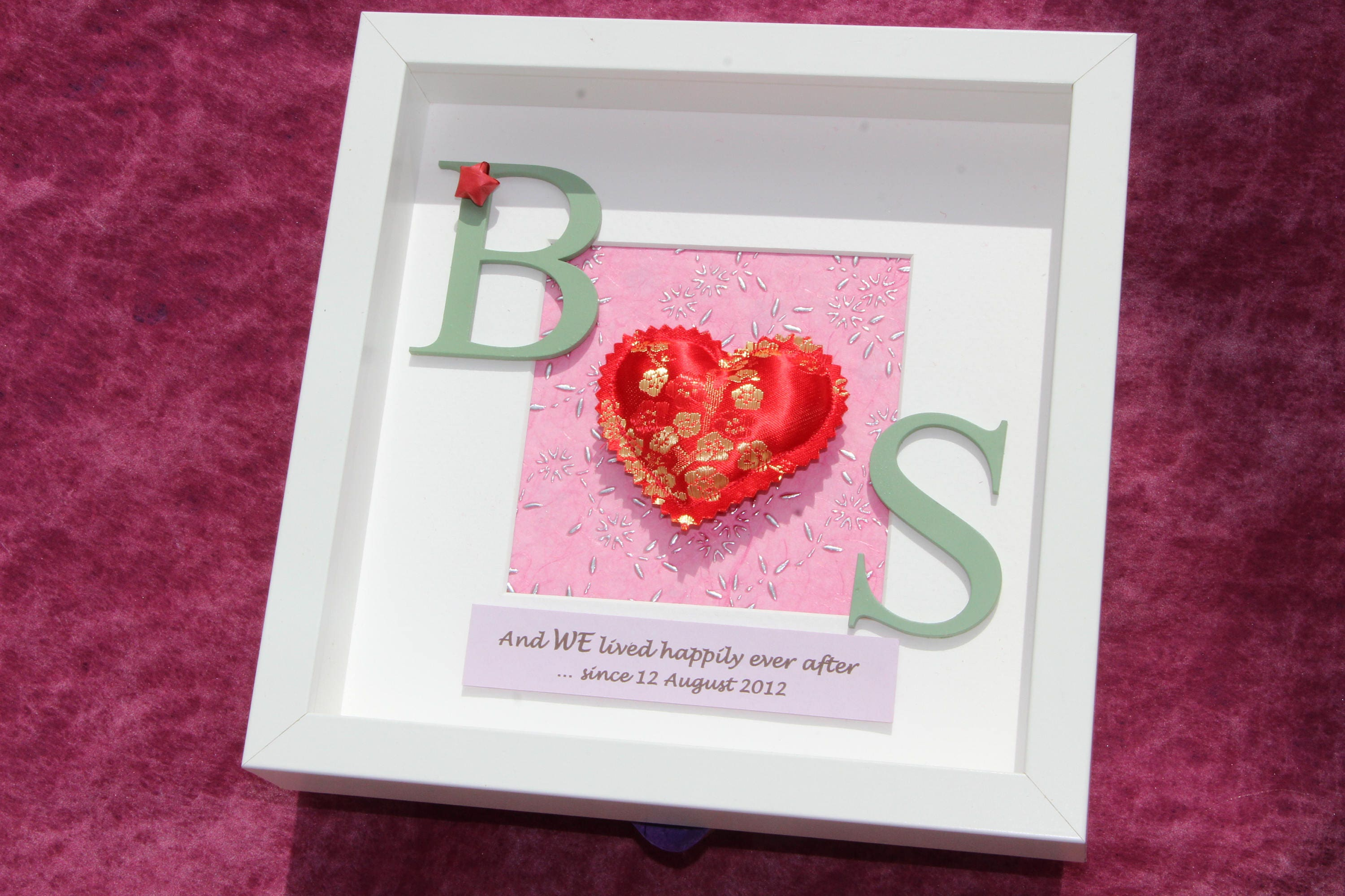 12th Wedding Anniversary Gift Ideas For Him: 4th / 12th Silk Wedding Anniversary Gift Shadow Box Frame