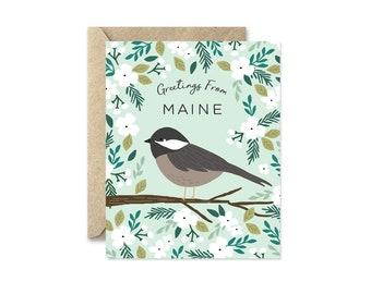 Maine State Bird - Greeting Card