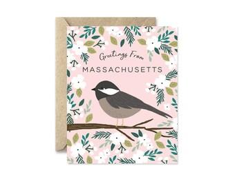 Massachusetts State Bird - Greeting Card
