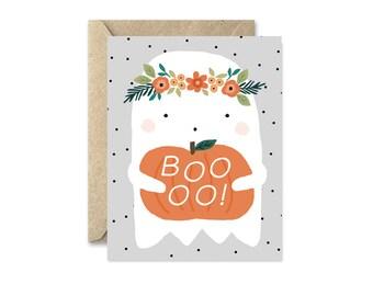 Boho Ghost - Greeting Card