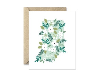 Indiana Bouquet - Greeting Card