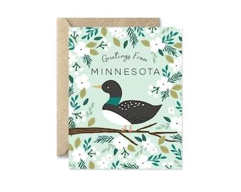 Minnesota State Bird - Greeting Card