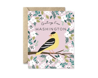 Washington State Bird - Greeting Card