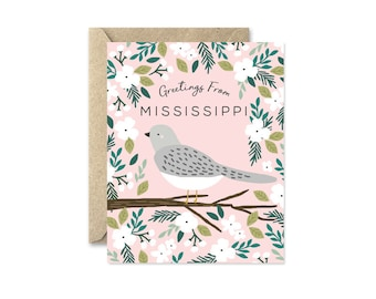 Mississippi State Bird - Greeting Card