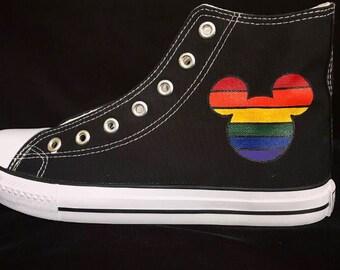 944da201de8 Rainbow Mickey mouse shoes Pride mickey mouse Disney hand