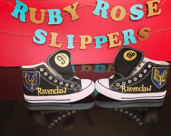 2fc2a30df6f8 Custom Harry Potter Inspired Ravenclaw hand painted shoes.
