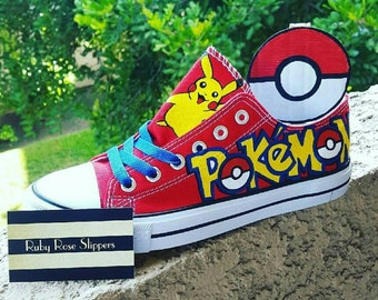 Custom POKEMON men and womens fan hand painted art shoes a7855b0acf