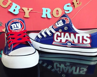 Custom Hand Painted New York Giants Canvas fan inspired shoes