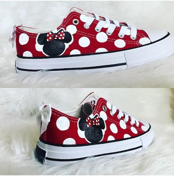 7126547e2480 Custom Minnie mouse shoes black and white