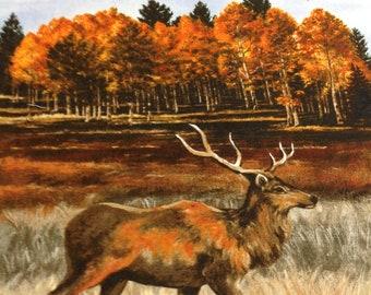Outdoor Wildlife Lover Leggings Majestic Elk Leggings Outdoor Adventure Explore Rustic Silver and White