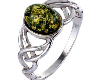 Genuine real Baltic Amber and Silver Plated ring cognac honey transparent color gemstone authentic women/'s jewelry FREE SHIPPING 1596