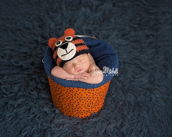 Orange and Blue Bucket Liner {Photography Props}