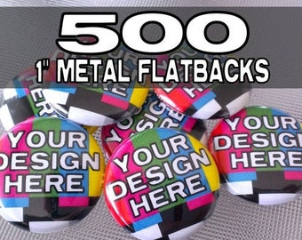 500 Custom 1 inch Metal Flatback medallions - great for scrapbooking and crafts