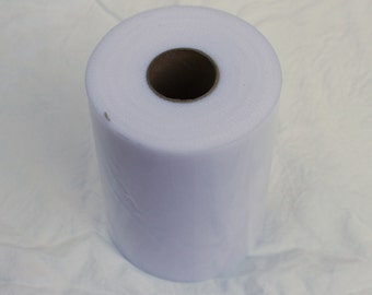 White tulle rolls - 6 inches - 100 yard - White tulle spool - rolls of tulle - white wedding decor - white tulle roll