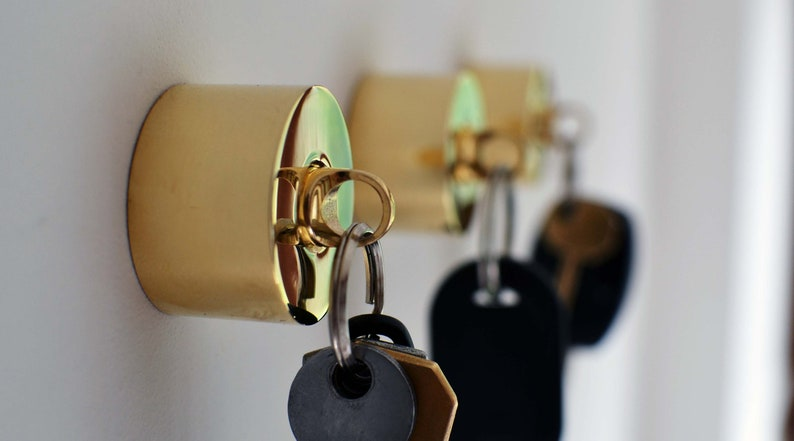 Pure Brass Key Holder And Fob image 0