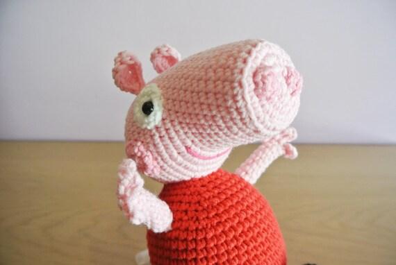 Häkeln Sie Peppa Pig Amigurumi Handarbeit Häkeln Amigurumi Etsy