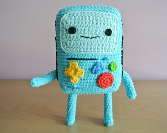 Crochet BMO Amigurumi - Handmade Crochet Amigurumi Toy Doll - Adventure Time - BMO Crochet - Amigurumi BMO Adventure Time