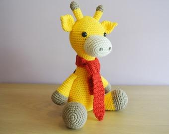 Stanley Crochet Giraffe Amigurumi - Handmade Crochet Amigurumi Toy Doll - Giraffe Crochet - Amigurumi Giraffe - Safari Animal