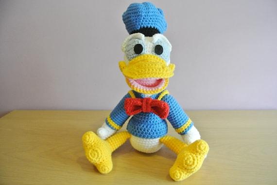 Häkeln Sie Donald Duck Amigurumi Handarbeit Häkeln Amigurumi Etsy