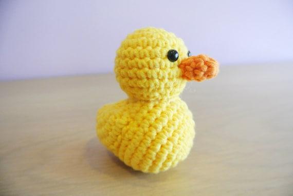 Yellow rubber duck crochet PATTERN Amigurumi duck pattern DIY ... | 382x570