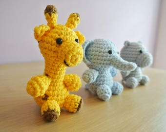 Crochet Safari Animal Amigurumi - Handmade Crochet Amigurumi Toy Doll - Safari Animal Crochet - Amigurumi - Safari Animal