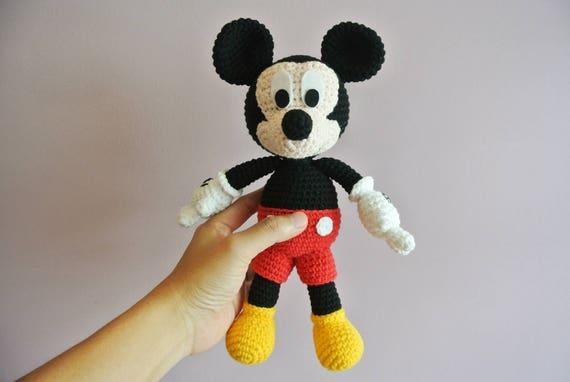 Häkeln Sie Mickey Mouse Amigurumi Handarbeit Häkeln Etsy