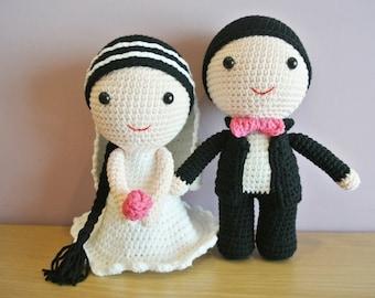 Doll Crochet Wedding Amigurumi  - Handmade Crochet Amigurumi - Wedding Doll - Wedding Crochet - Amigurumi Wedding - Crochet Wedding Doll