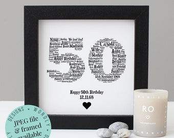 Personalised 50th BIRTHDAY GIFT
