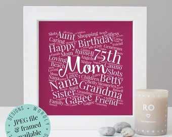 Personalised 75th BIRTHDAY GIFT