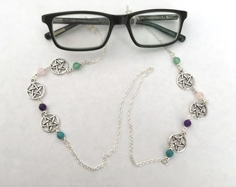 b1b0295138d8 Pentagram Glasses Chain