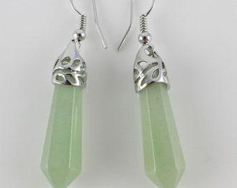 Green Aventurine Drop Earrings ~ REIKI CHARGED