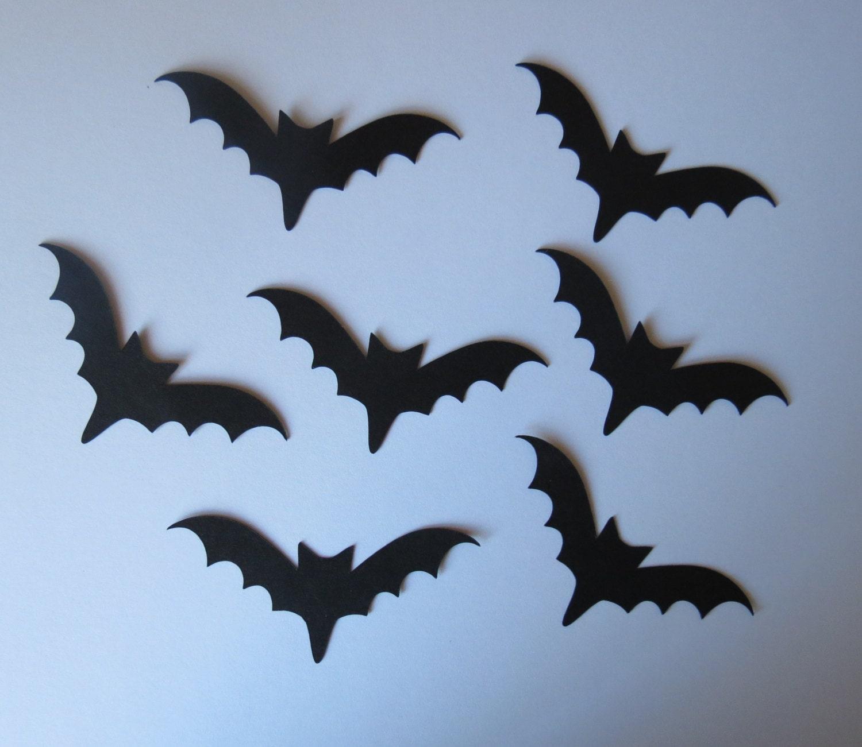 50 Small Bat Die Cuts Paper Bats Bat Decoration Halloween Bats Scrapbooking Bats Bat Embellishment Bat Diecuts Bat Die Cuts