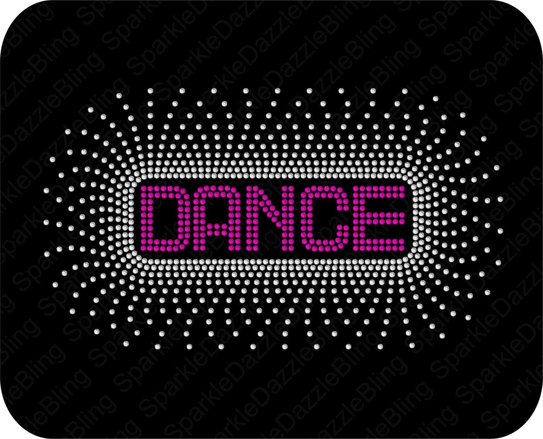 e2e1978b96b Dance Dancer Rhinestone Template Instant Download Dance Burst   Etsy