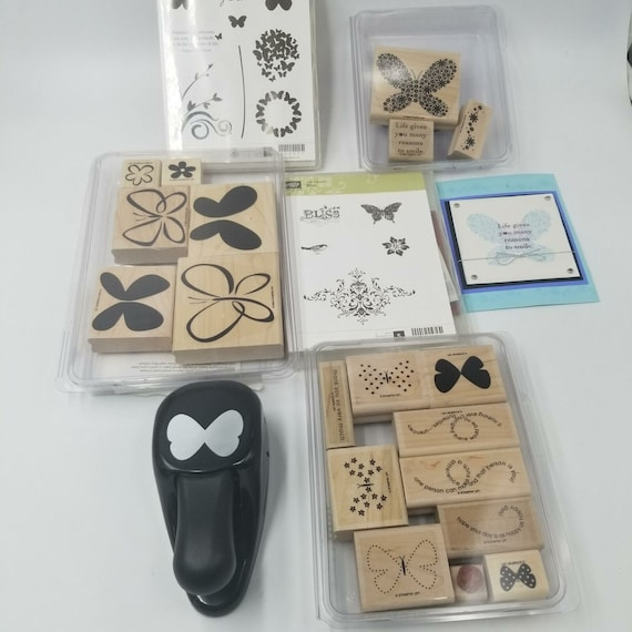 Butterfly in Flight Rubber Stamp retired from Stampin Up