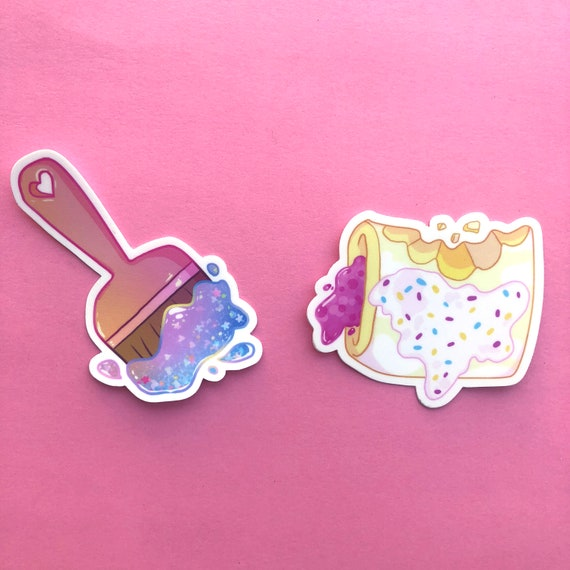 Neopets Throwback Sticker Pack Paintbrush And Omelette Etsy