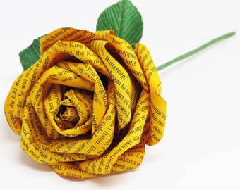 The Princess Bride Yellow Buttercup Paper Rose