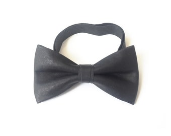 Mens Leather Handmade Pre-tied Bow tie