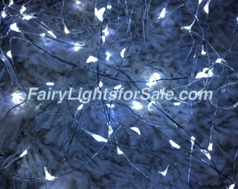 2m/6.6ft 5+ sets Cool White 20 LED fairy lights string strand button battery for DIY, centerpiece, wedding, costume, rave, EDM, flower crown