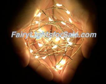 2m/6.6ft 5+ sets Warm White 20 LED fairy light string strand button battery for DIY, centerpiece, vase, mason jar, wedding, costume, firefly