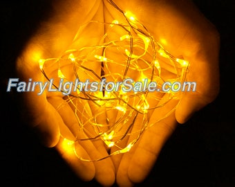 2m/6.6ft 5+ sets Yellow Gold 20 LED fairy light string strand button battery for DIY, centerpiece, wedding, costume, party, auspicious event
