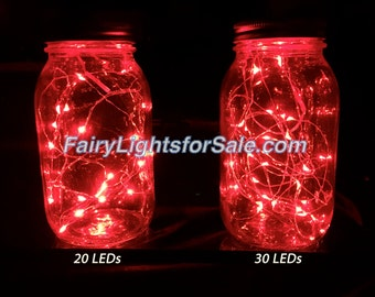 3m/9.8ft 1 set Red 30 LED fairy light string strand cr 2032 button battery for DIY, centerpiece, vase, wedding, costume, rave, EDM, event