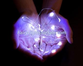 2m/6.6ft 1 set Cool White 20 LED fairy light string strand cr2032 battery for DIY, centerpiece, clothing, wedding, costume, rave, EDM, crown